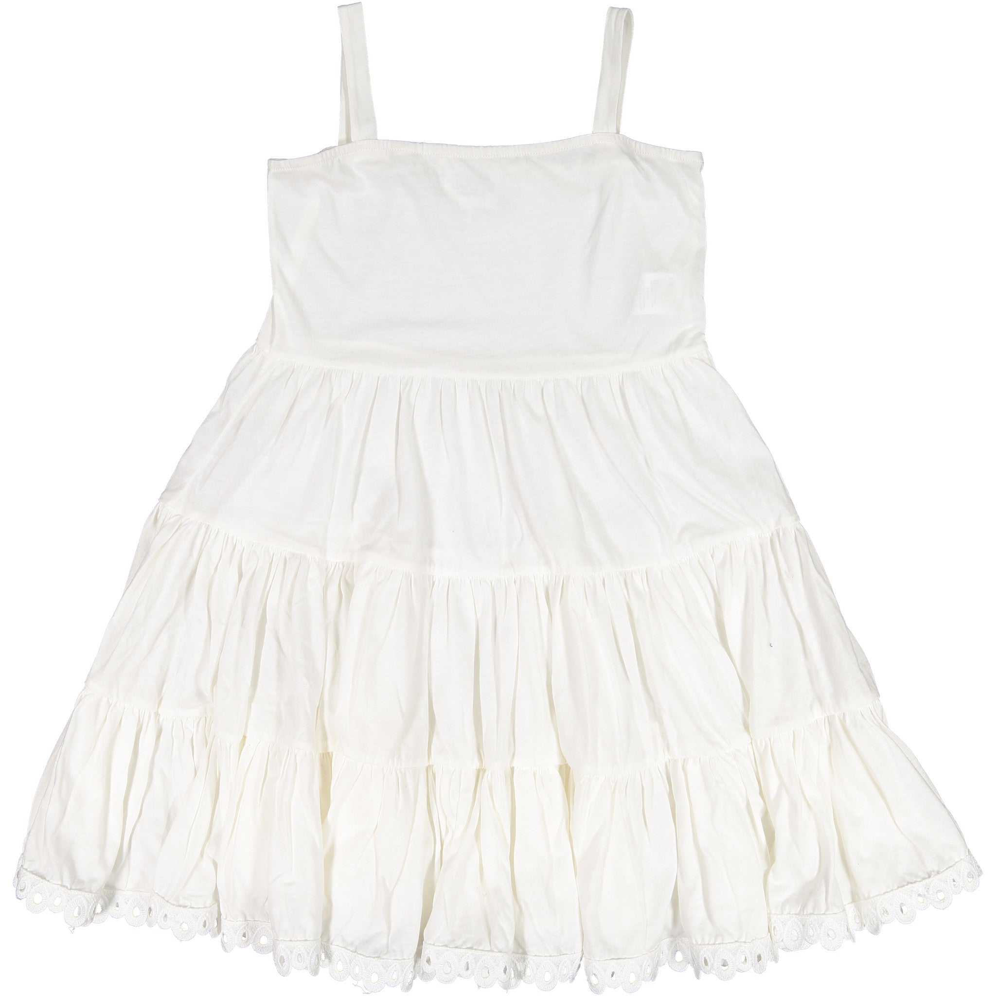 Atelier Barn White Tiered Dress - Ladida