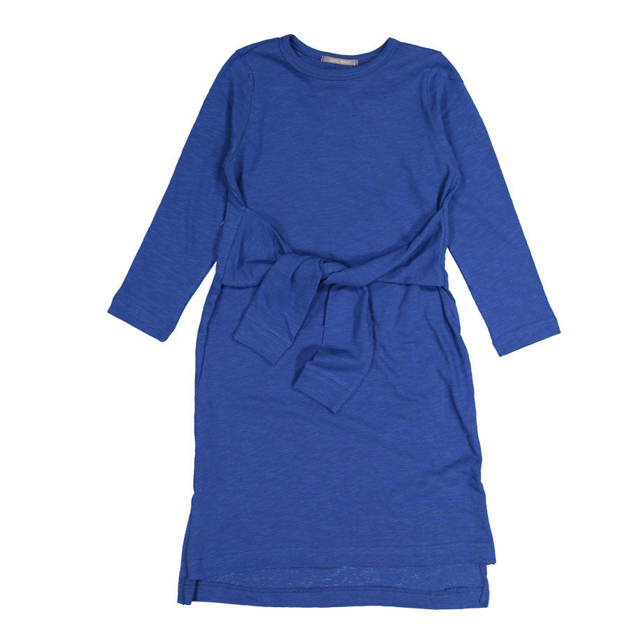 Dimple Moment Blue Tie Up Dress - Ladida