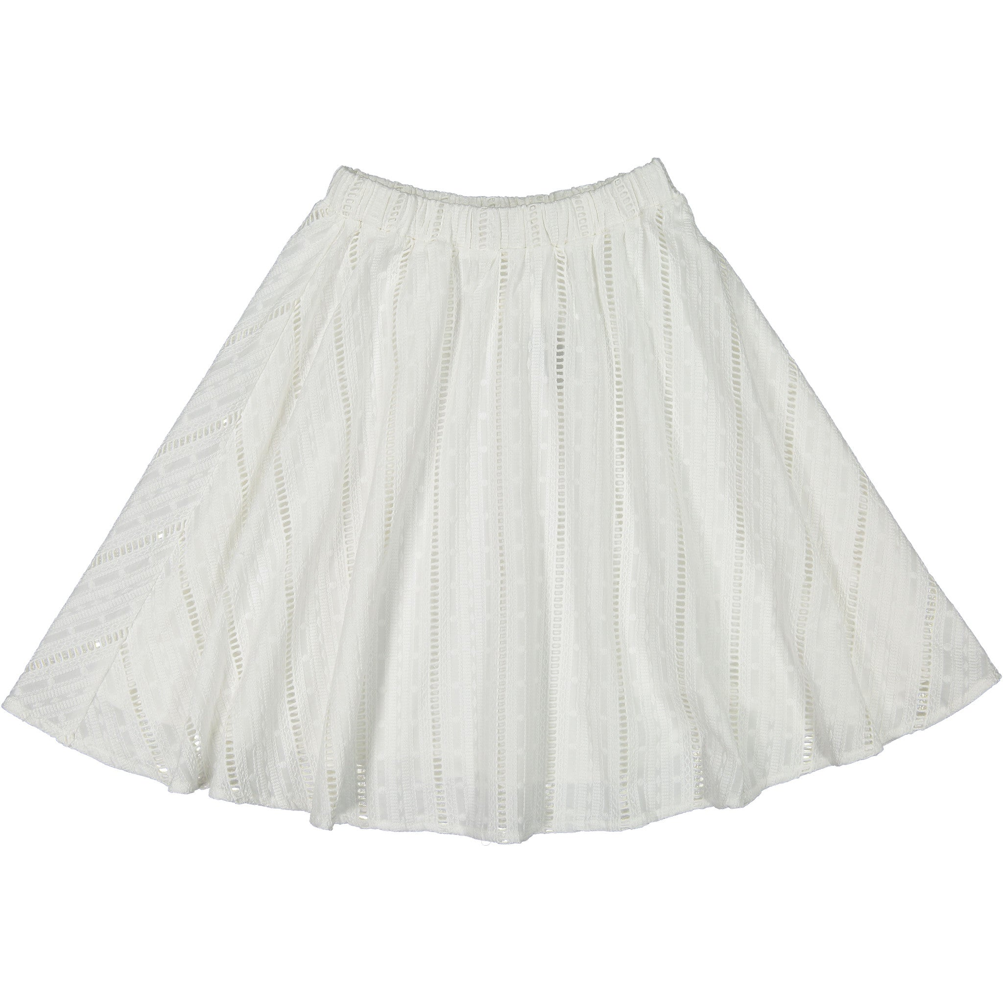 ROWE White Eyelet Skirt - Ladida