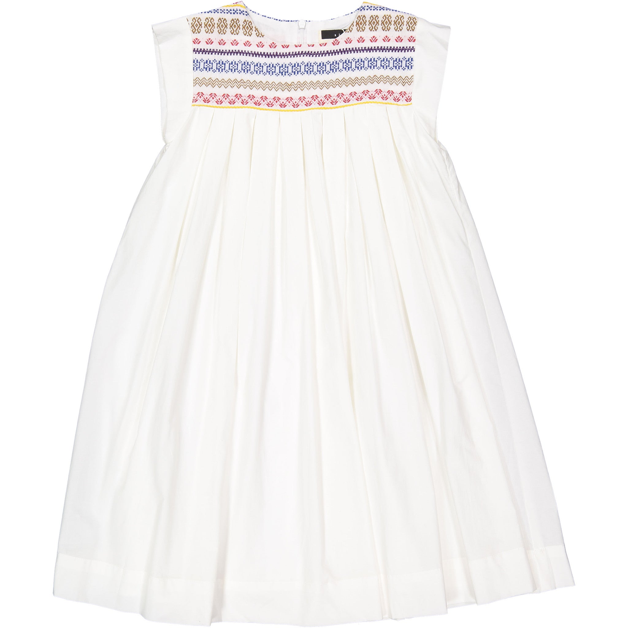 ROWE White Embroidered Smock Dress - Ladida