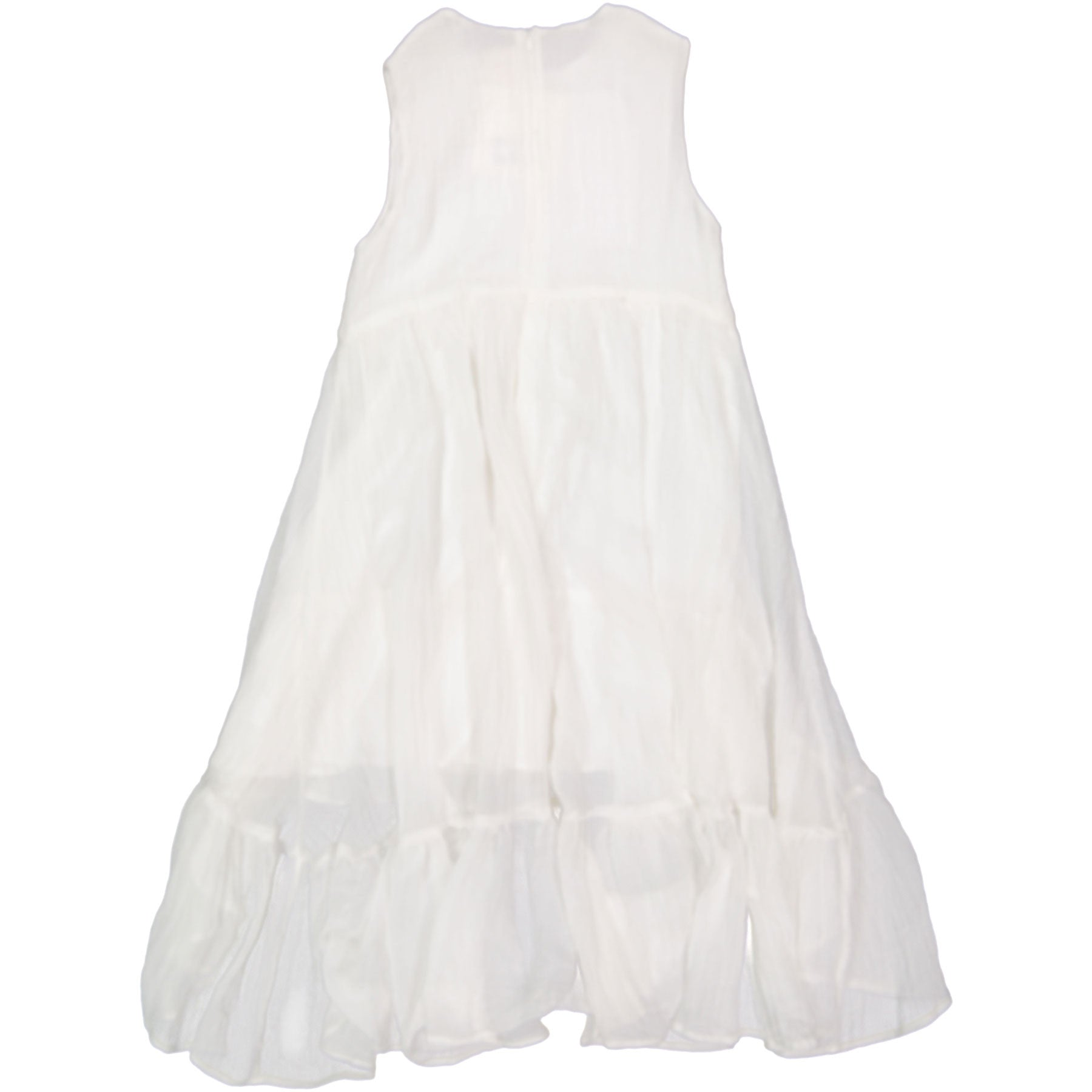 A4 White Tiered Maxi Dress - Ladida