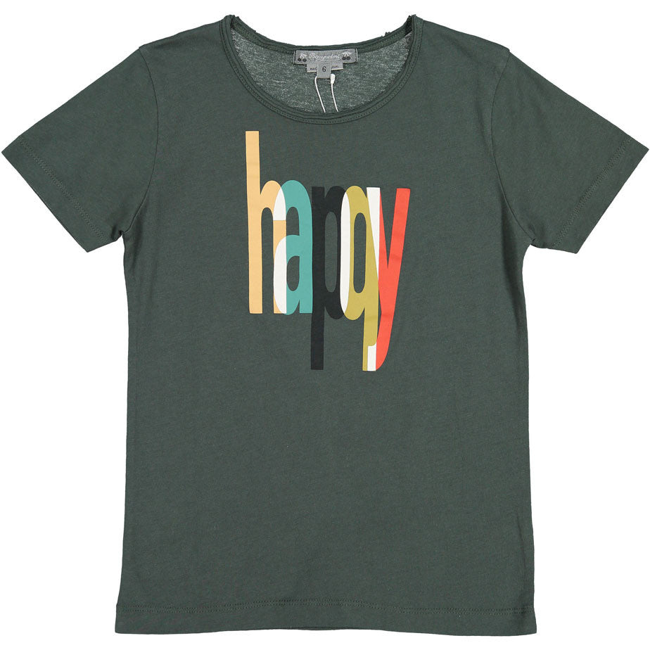 Bonpoint Charcoal HAPPY Tee - Ladida