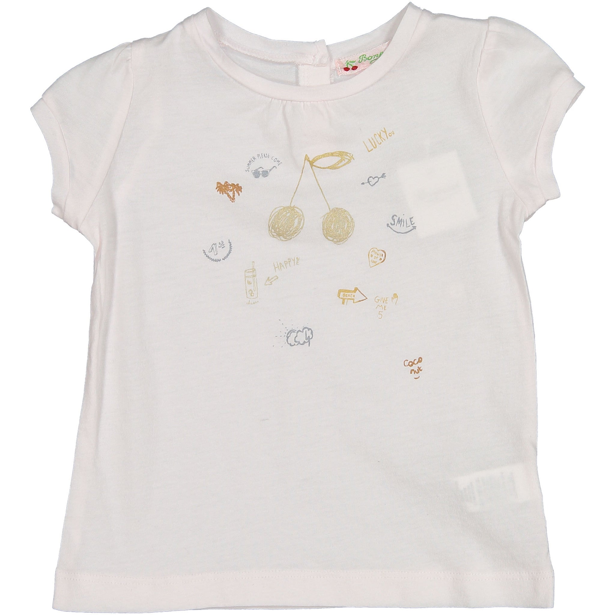 Bonpoint Rose Applique Baby Tee - Ladida