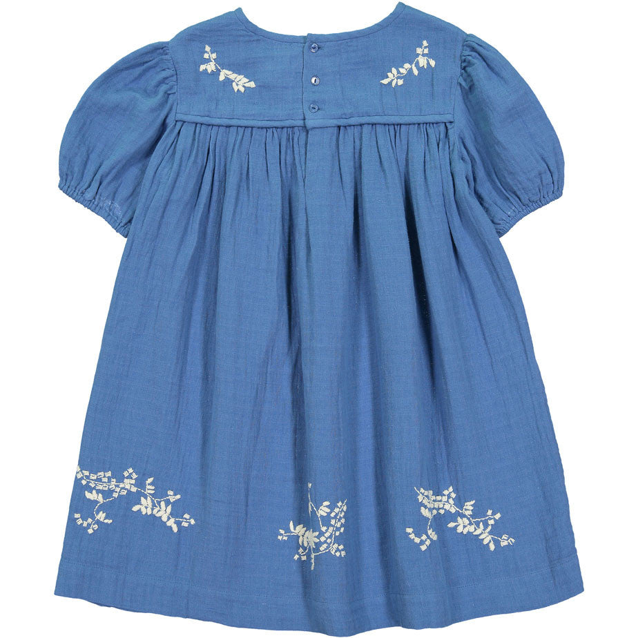 Bonpoint Blue Embroidered Dress - Ladida