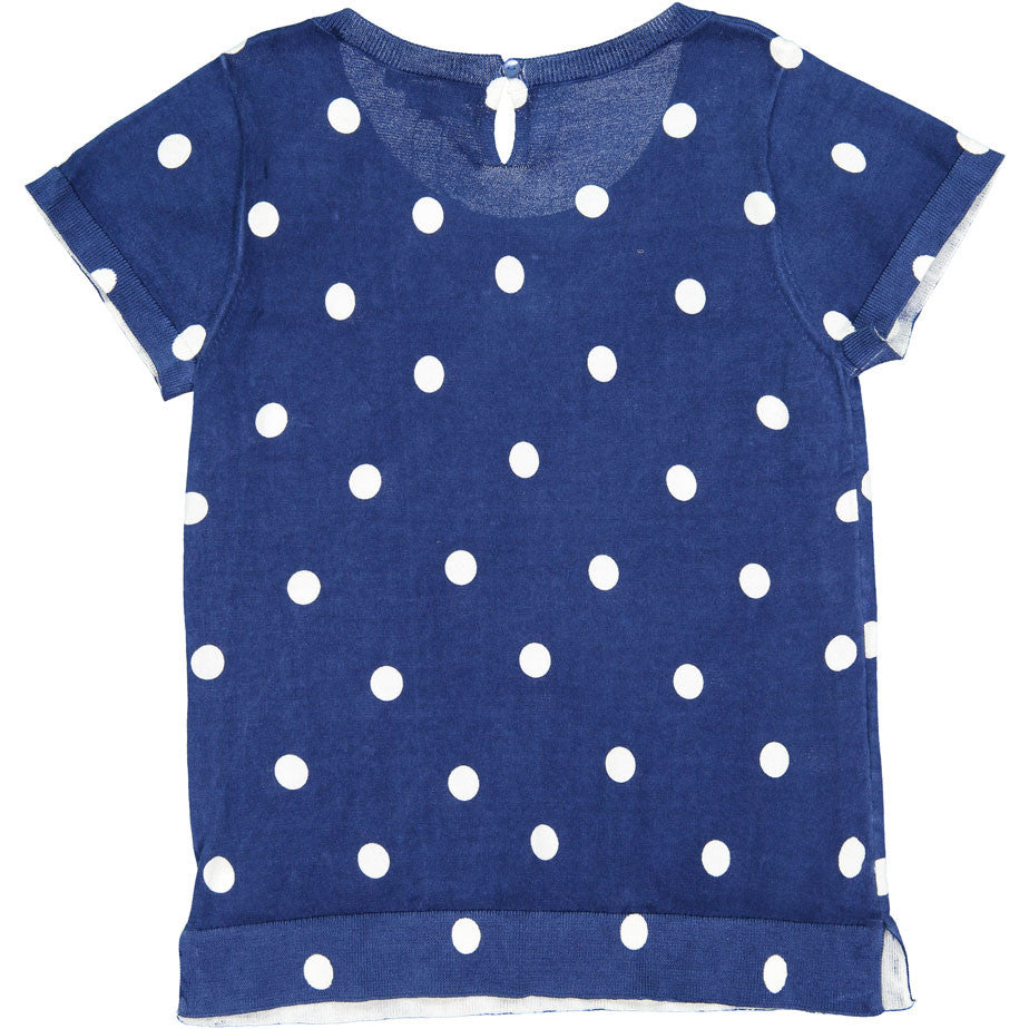 Bonpoint Blue Dot YAM Sweater