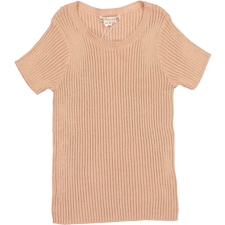 Bonpoint Pink Ribbed YAM Sweater