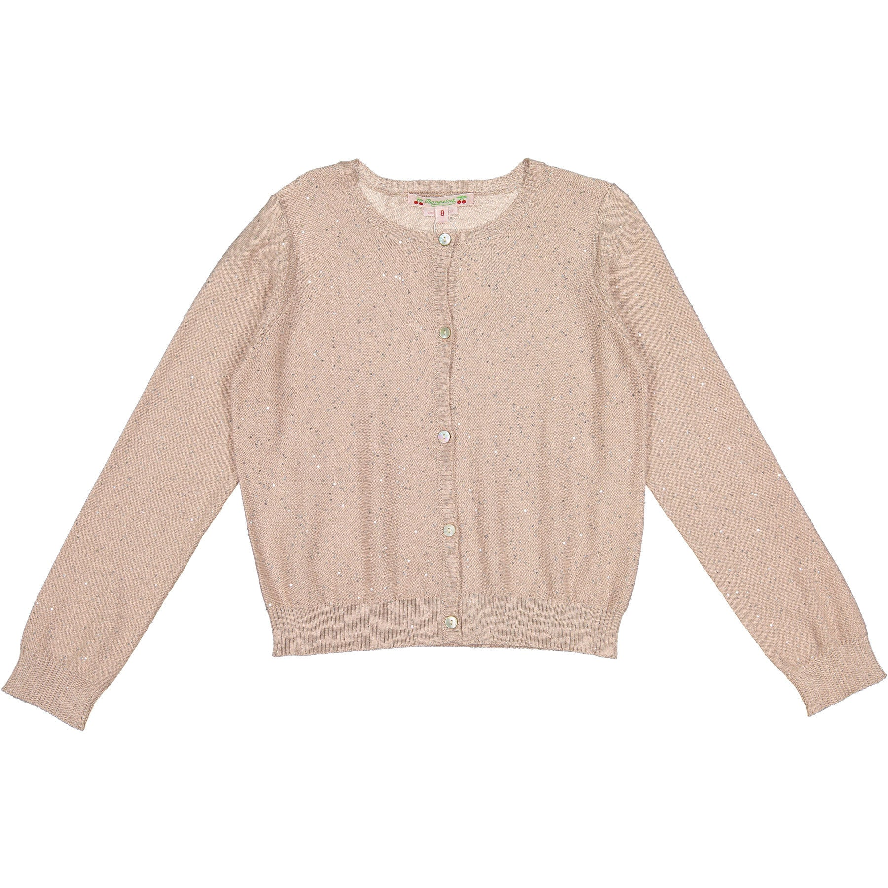 Bonpoint Rose Sparkle Cardigan - Ladida