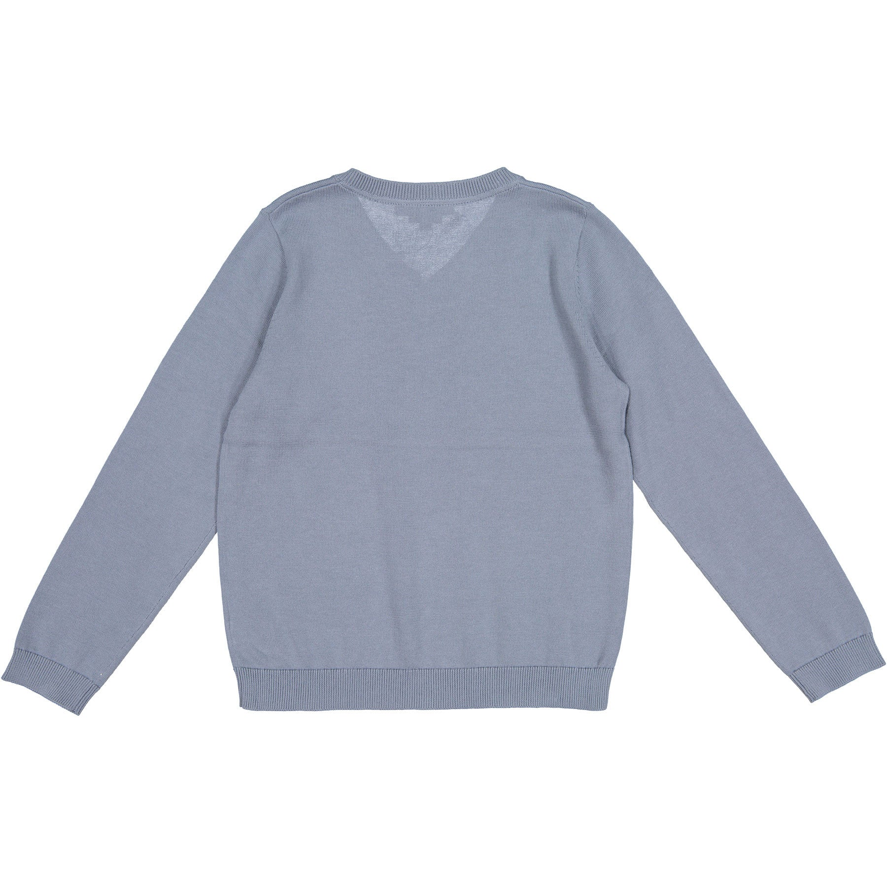 Bonpoint Blue Classic V-neck Pullover - Ladida