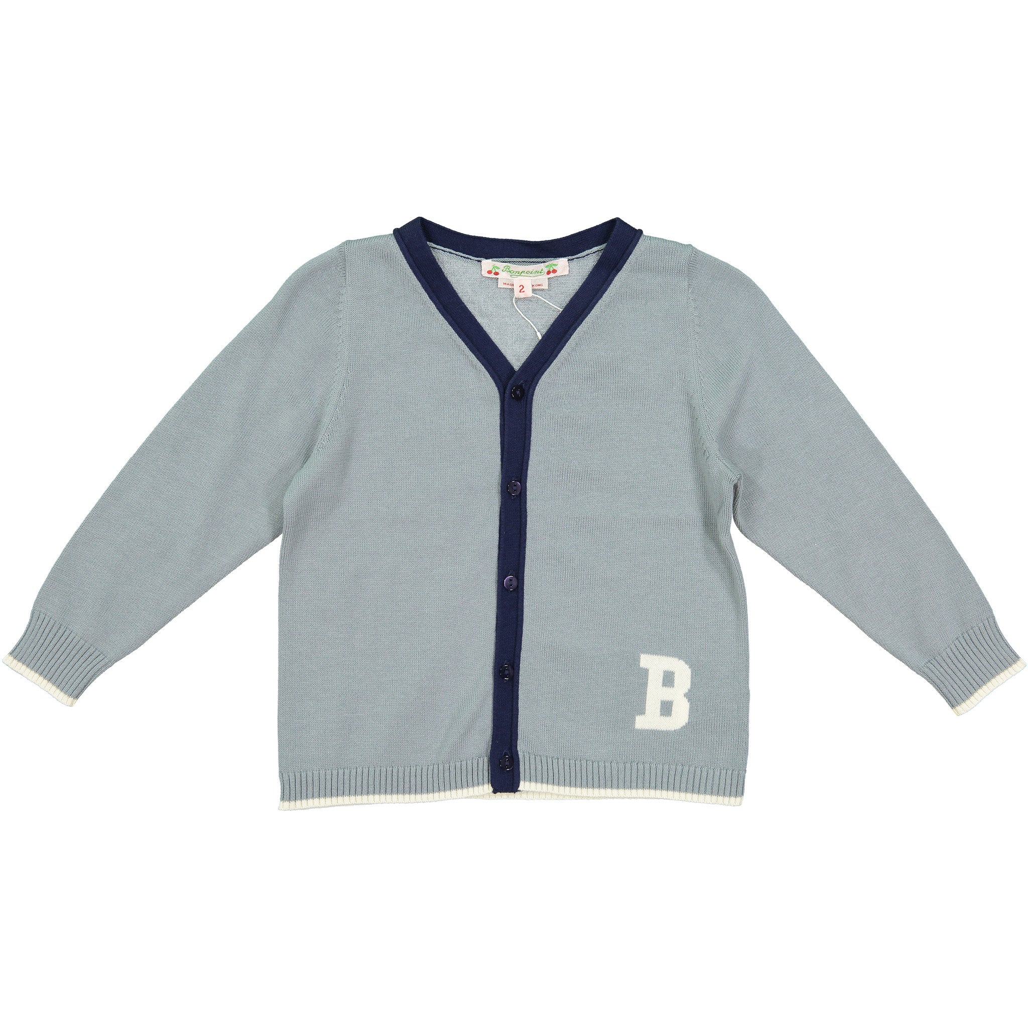 Bonpoint Blue B Logo Cardigan - Ladida