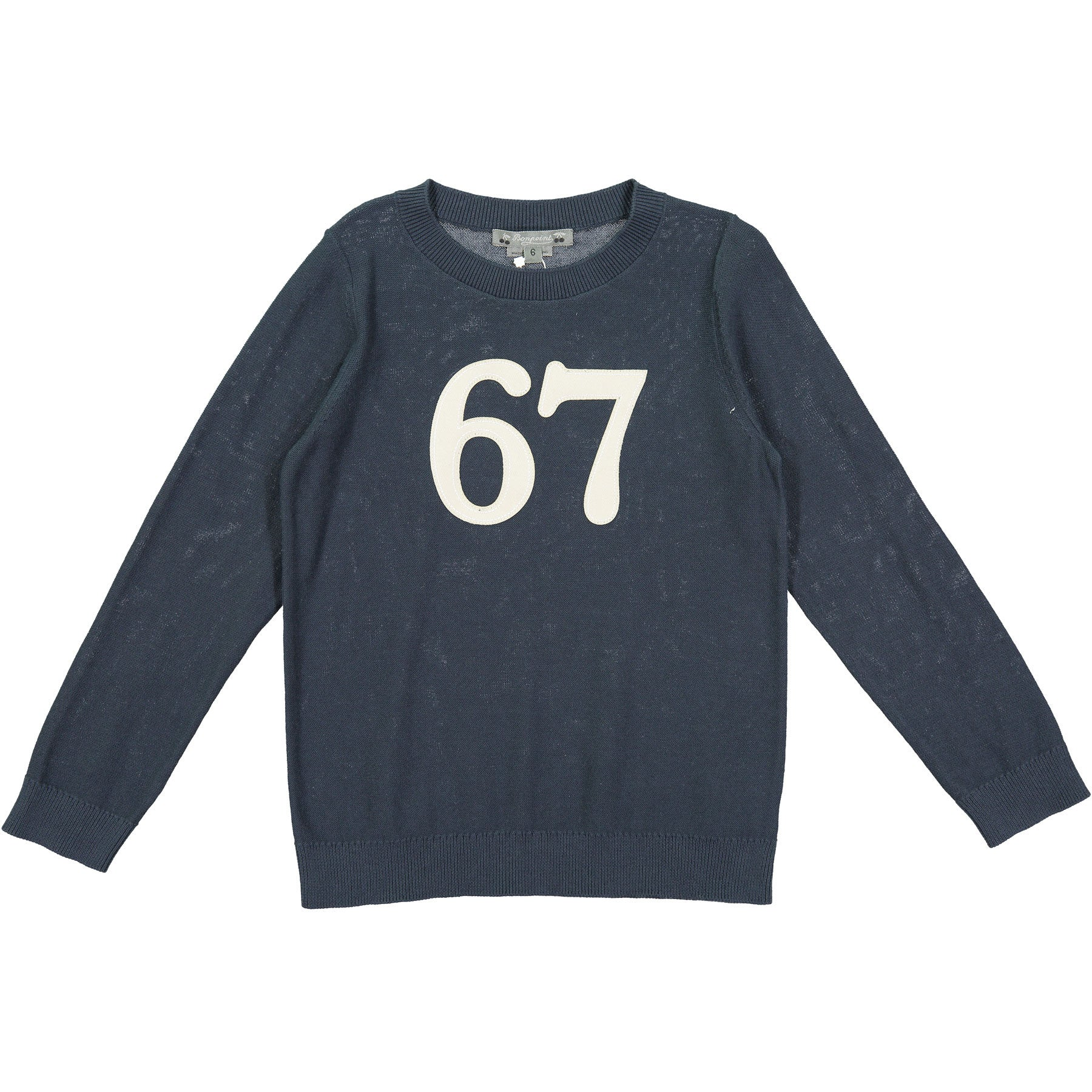 Bonpoint Blue Knit 67 Pullover - Ladida