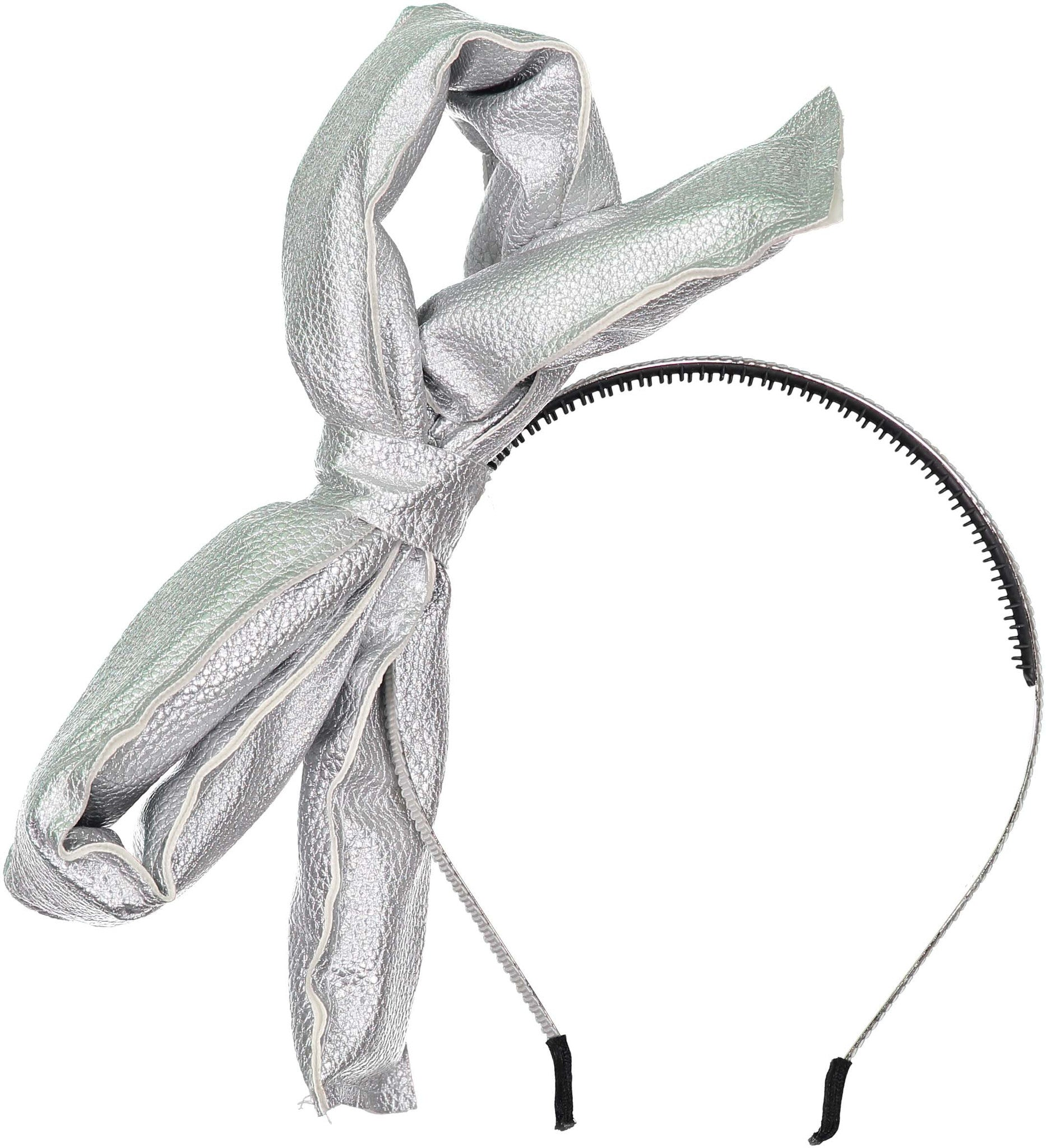 Knot Hairbands Metallic Silver Loop Headband - Ladida