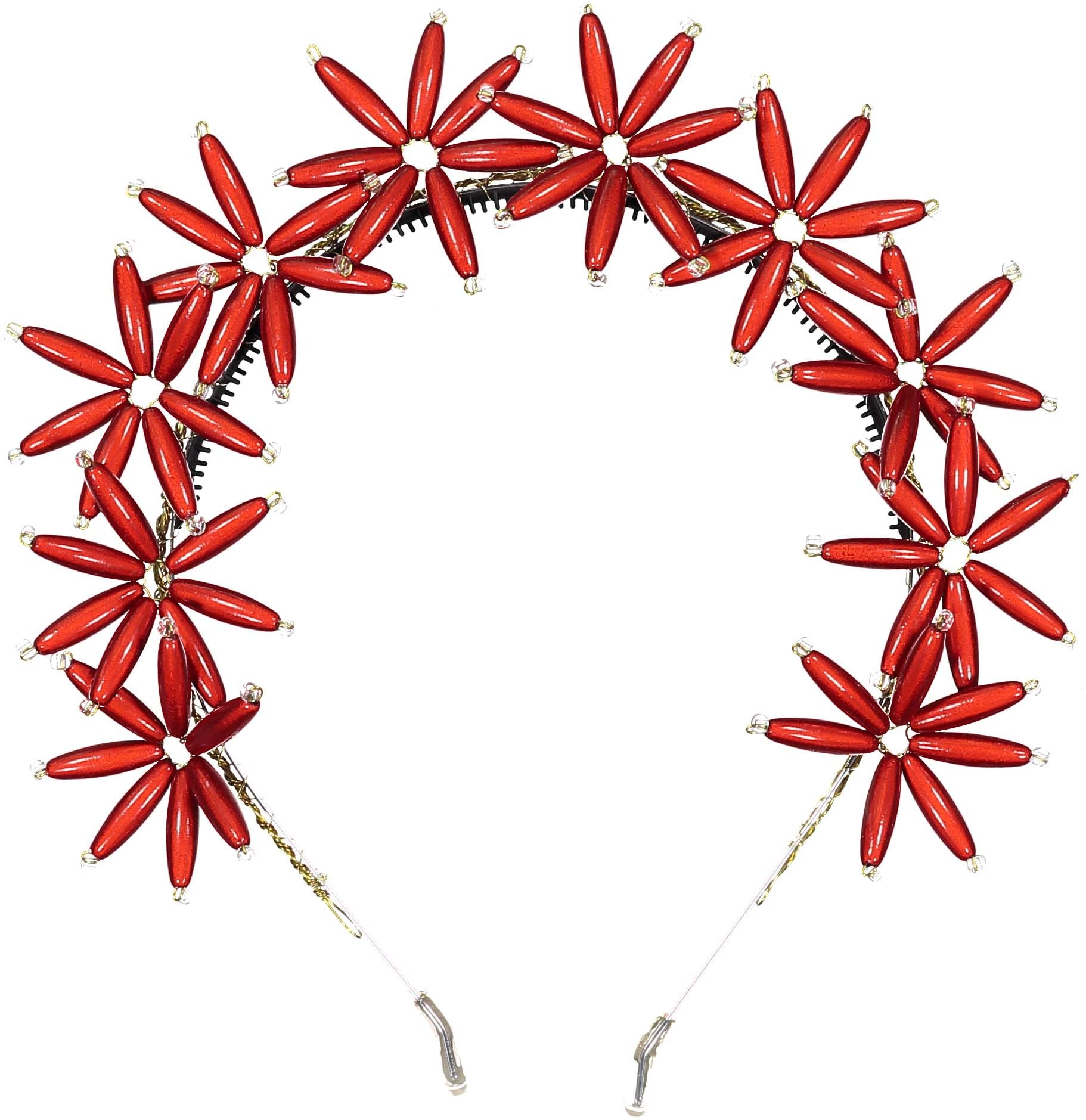 Knot Hairbands Red Flower Burst Headband - Ladida