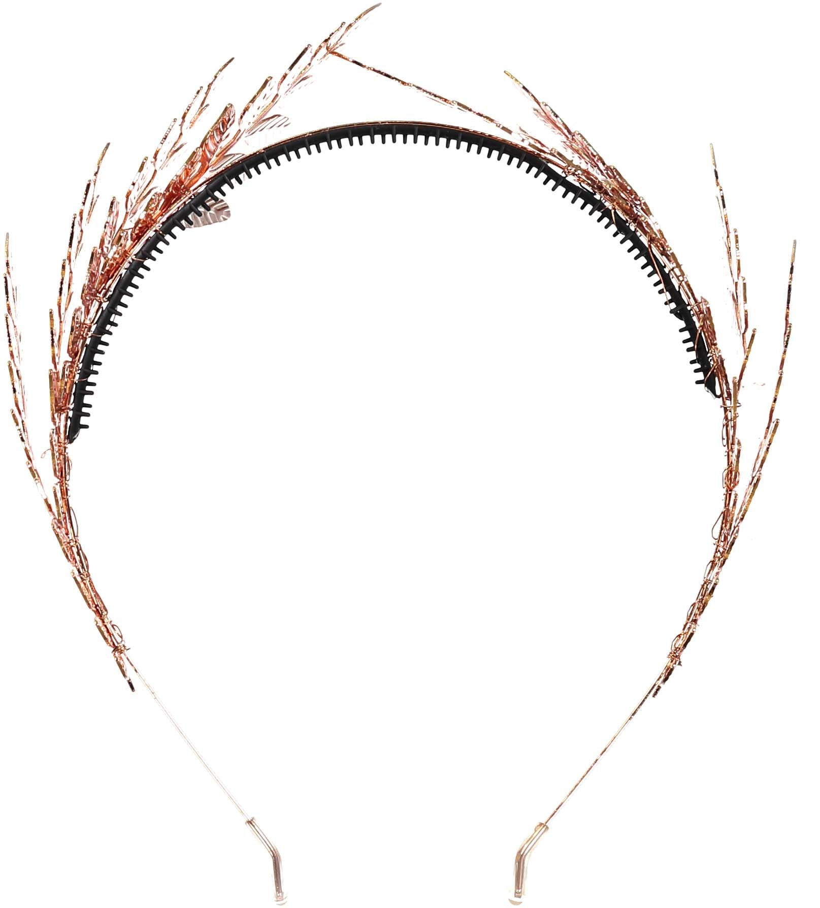 Knot Hairbands Rose Gold Leaf Wreath - Ladida