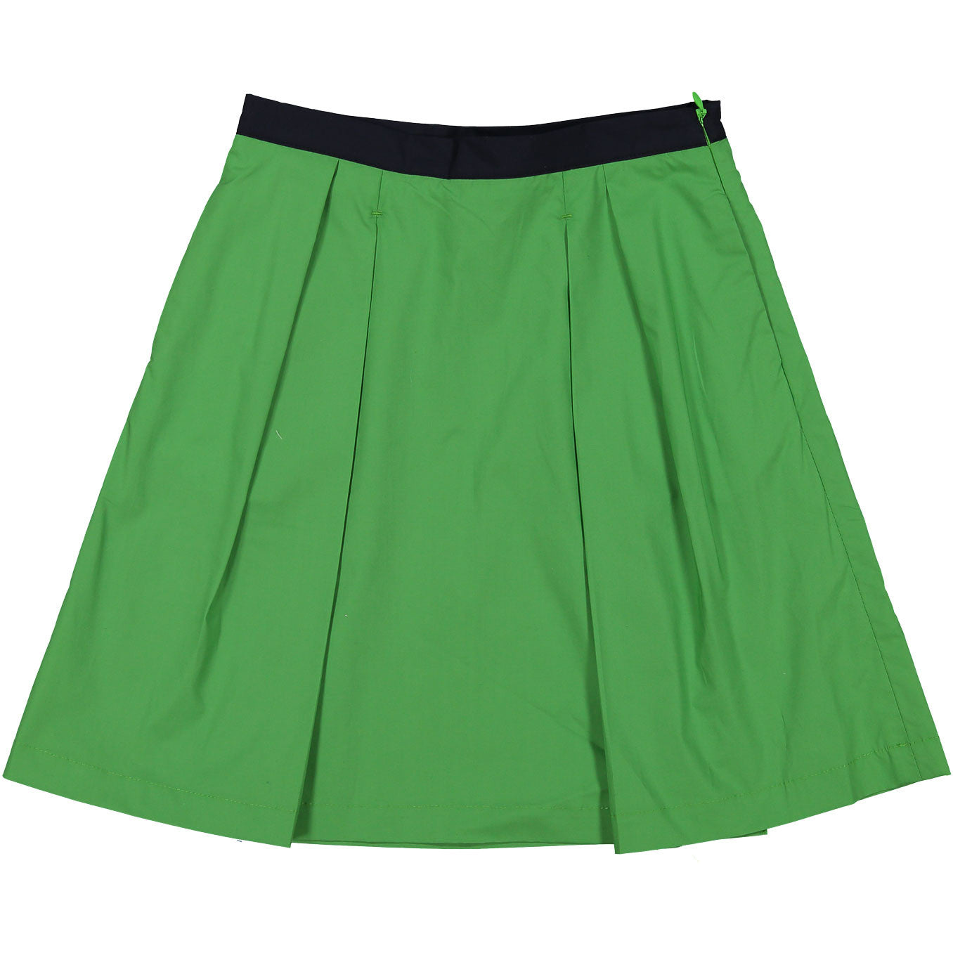 Once Green Pleated Skirt