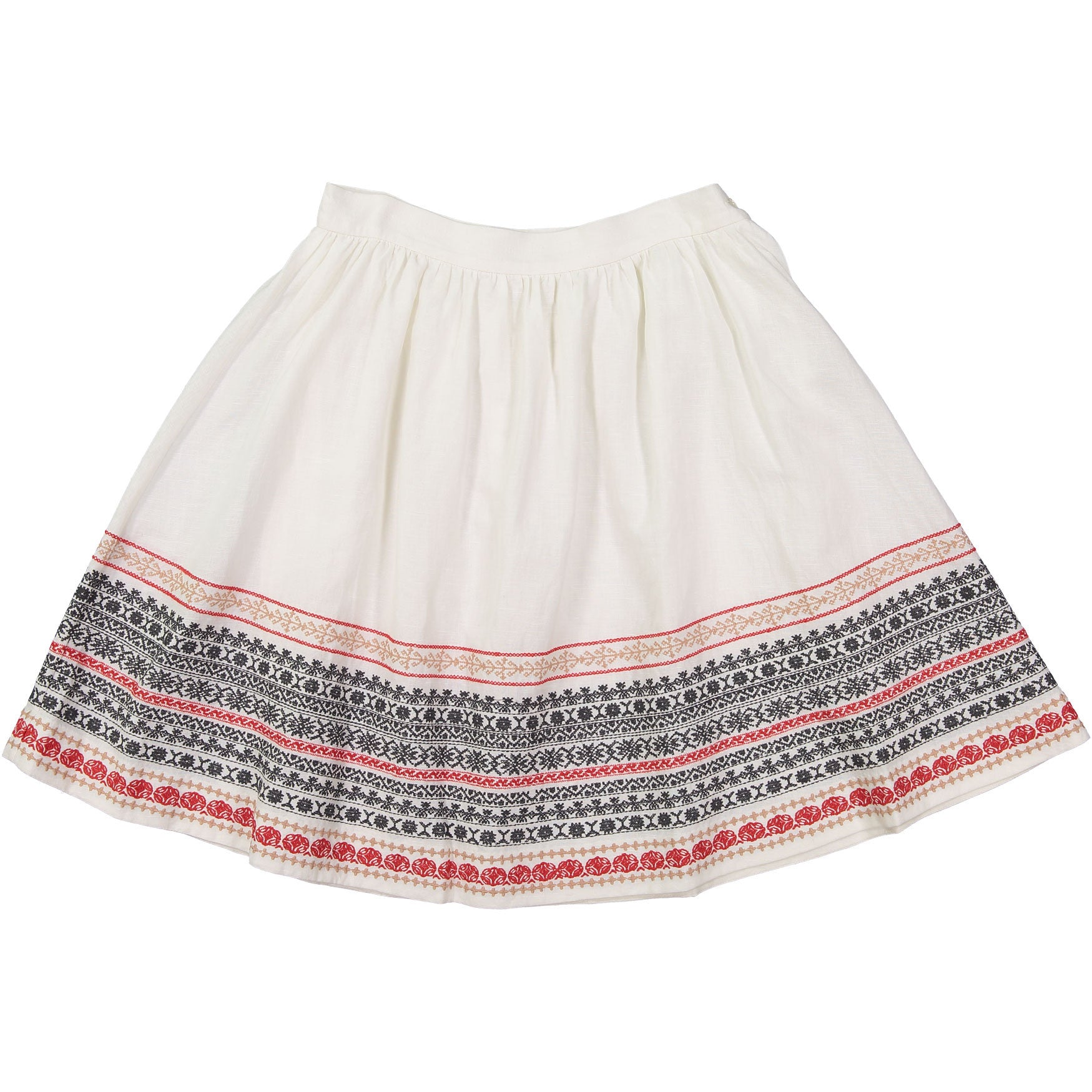 Bonpoint White Embroidered YAM Skirt - Ladida