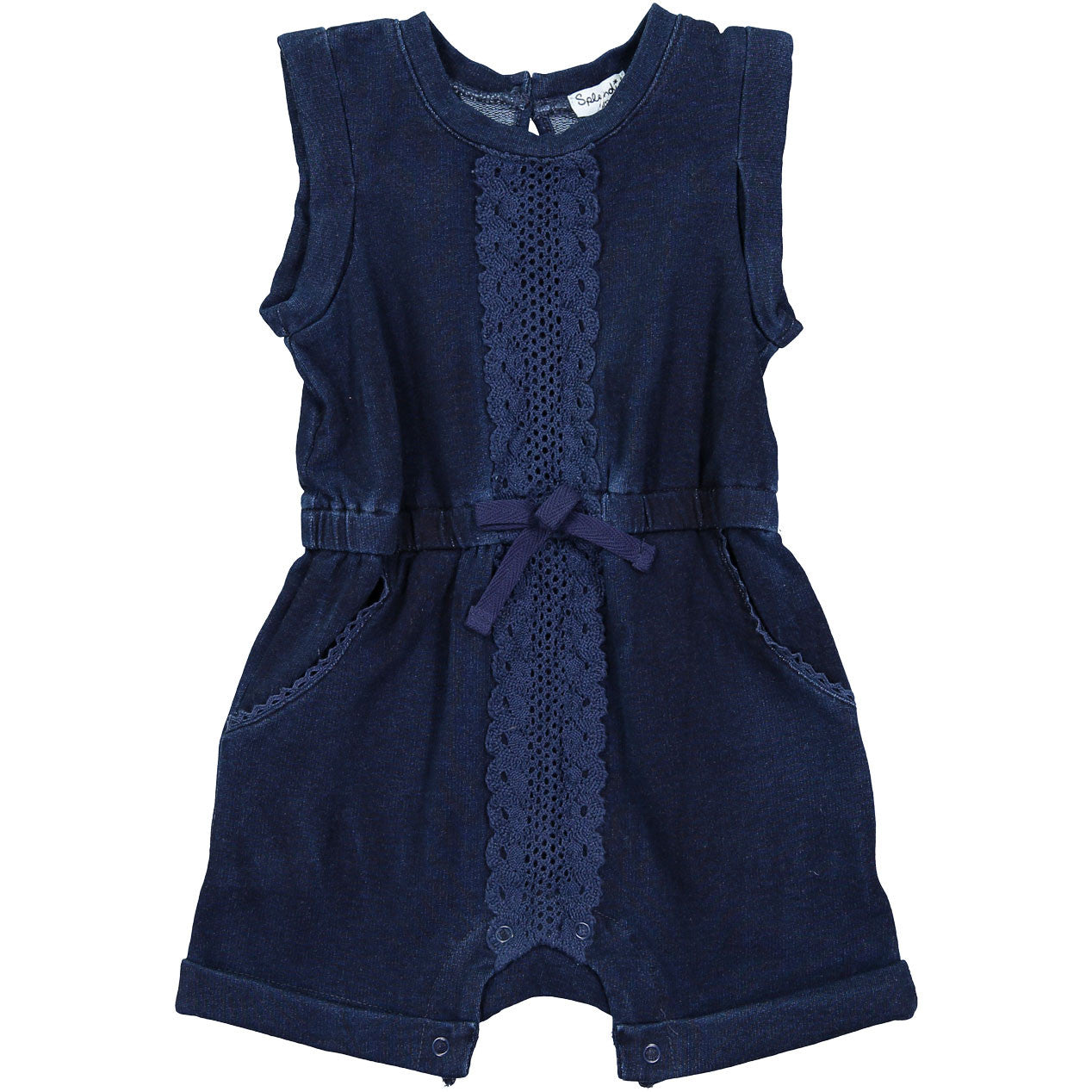 Splendid Indigo Romper With Lace - Ladida