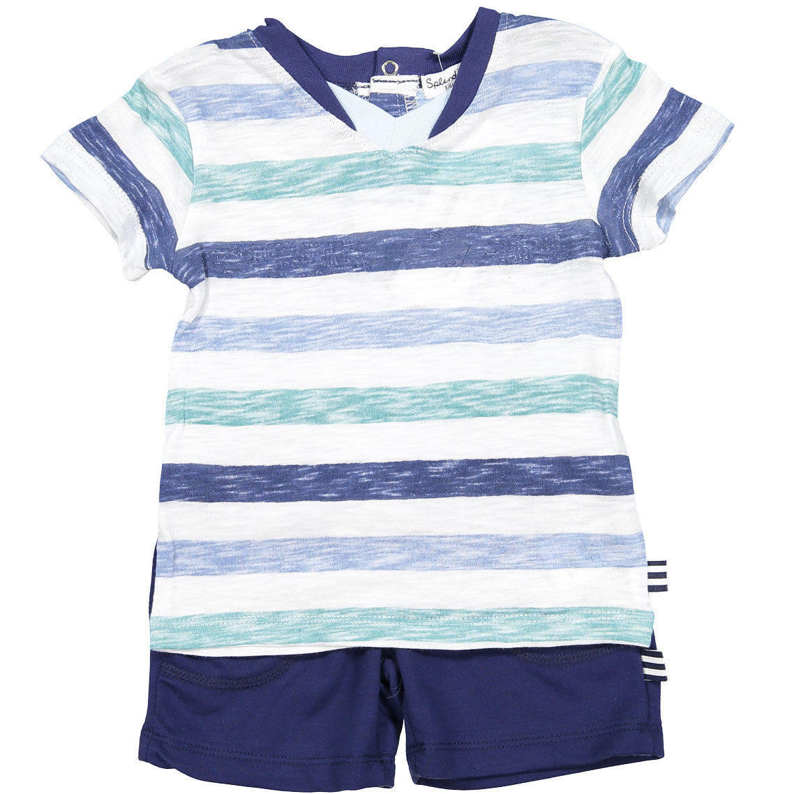 Splendid Reverse Print Stripe Baby Set - Ladida