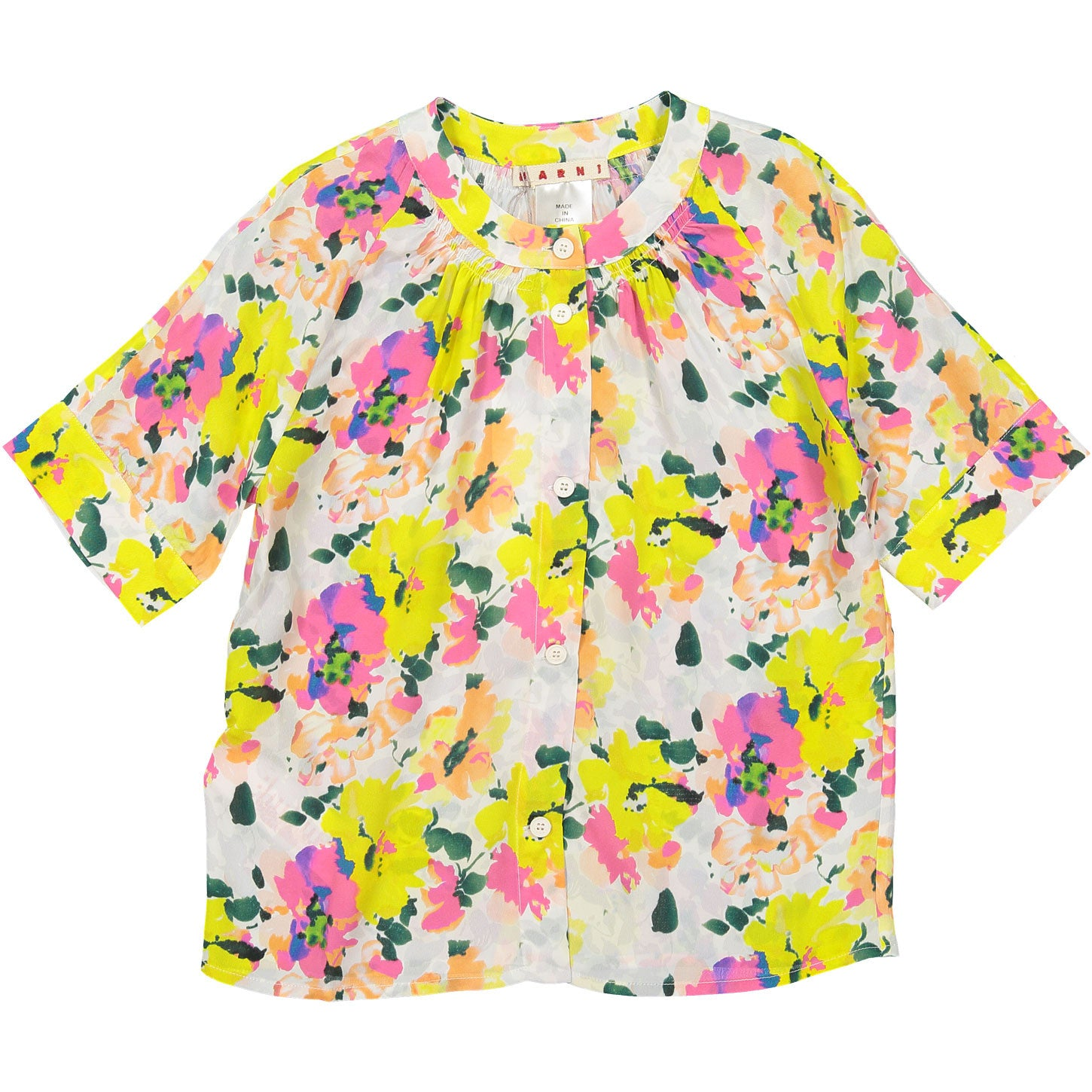 Marni Peach Bloom Silk Top - Ladida