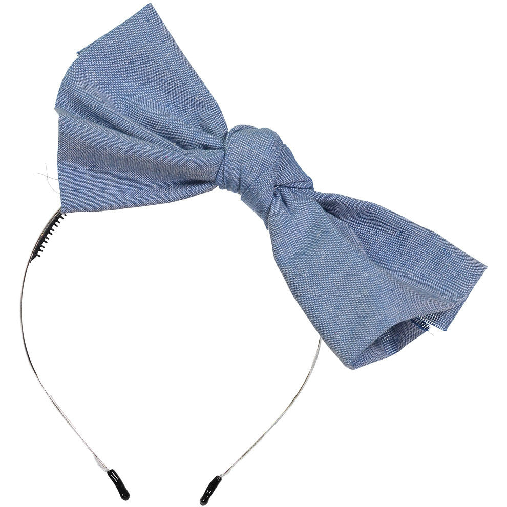 Sparkles Denim Classic Bow Headband - Ladida