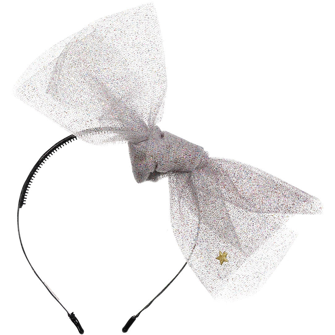 Sparkles Silver Colored Sparkles Tulle Headband - Ladida