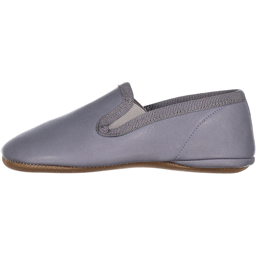 Pepe Grey Leather Slip-Ons