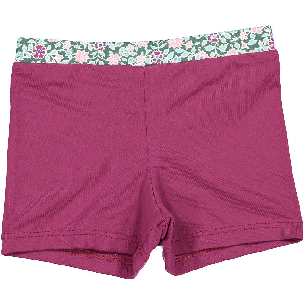 Nueces Purple Floral Swim Shorts