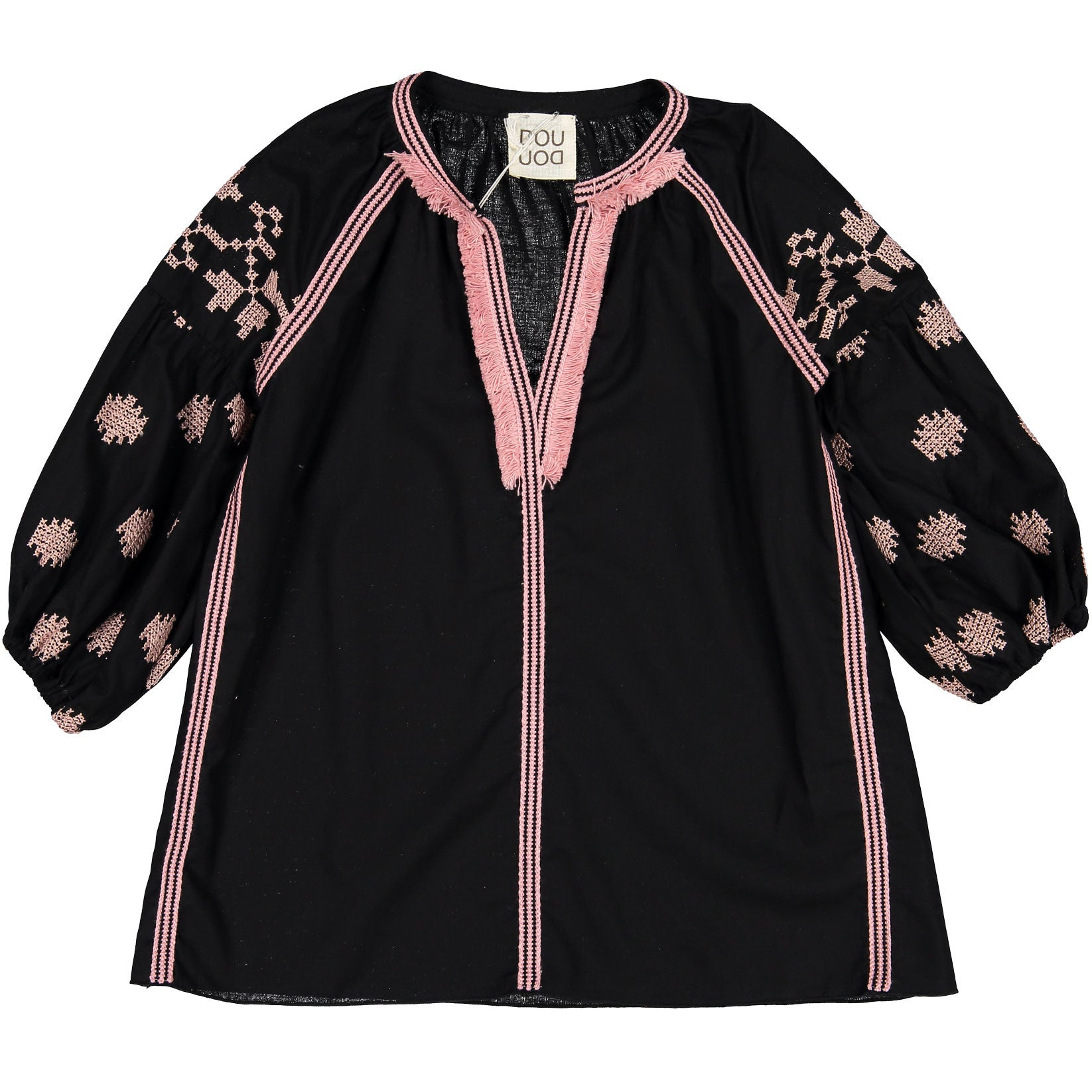 Doudou Navy Embroidered Blouse - Ladida