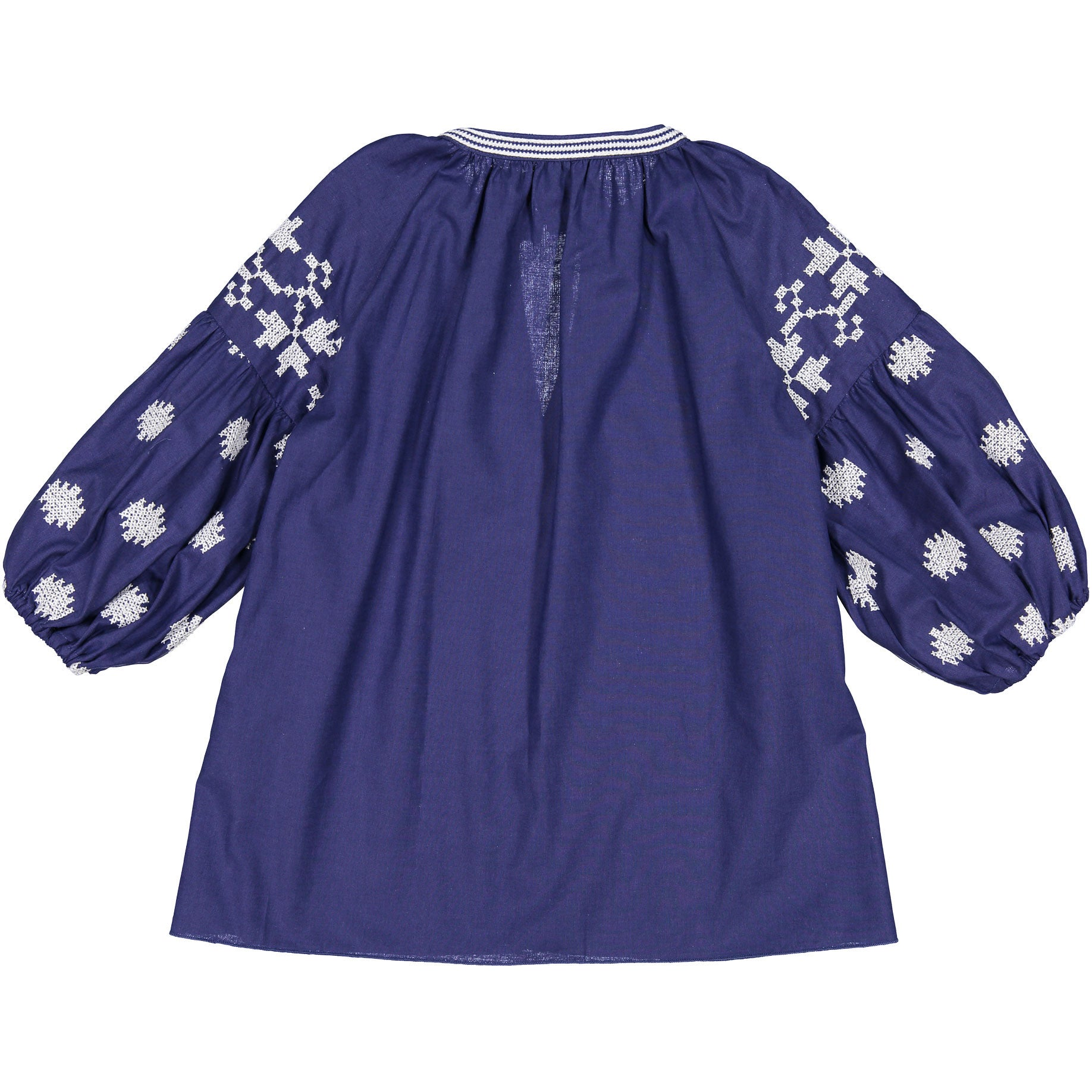 Doudou Blue Embroidered Blouse - Ladida