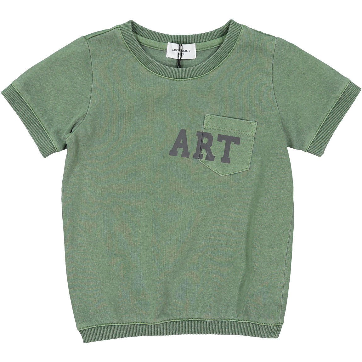 Arch and Line Olive Happy Tee - Ladida