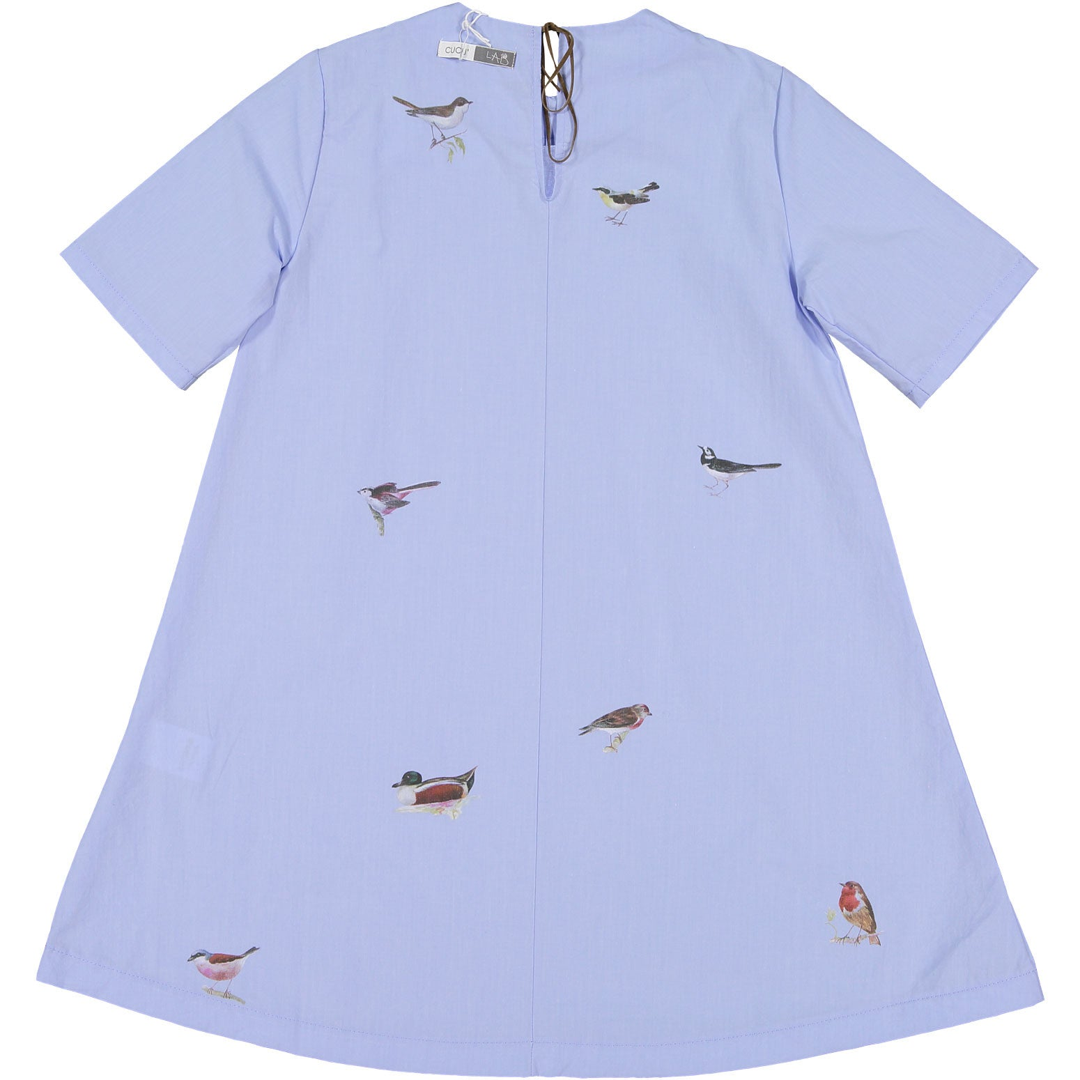 Cuculab Sea Cotton Birds Print Dress - Ladida