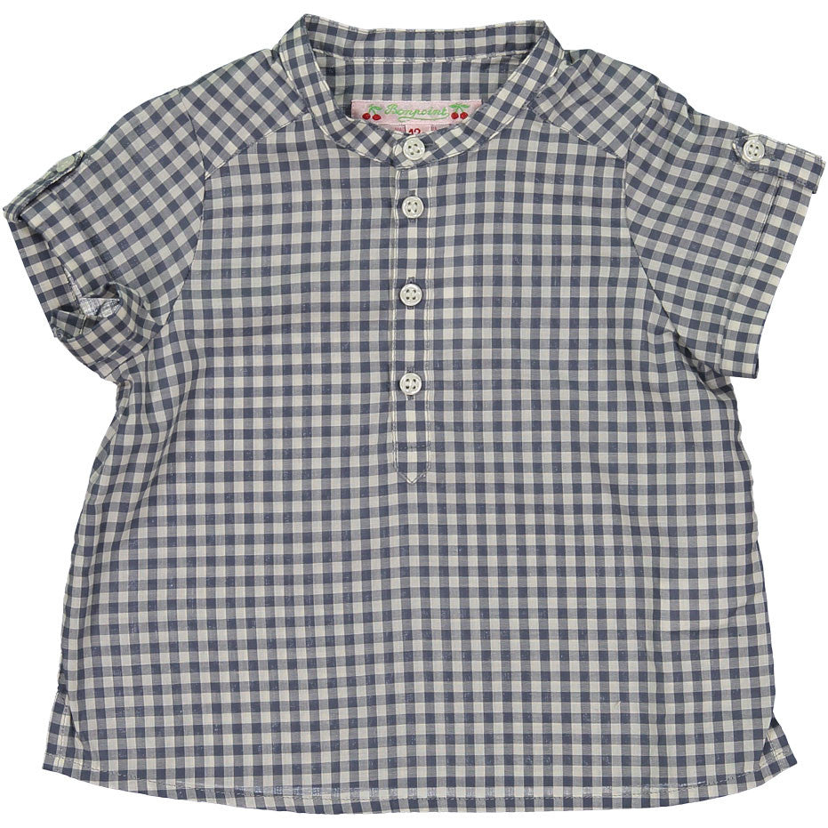Bonpoint Plum Check Baby Tunic - Ladida