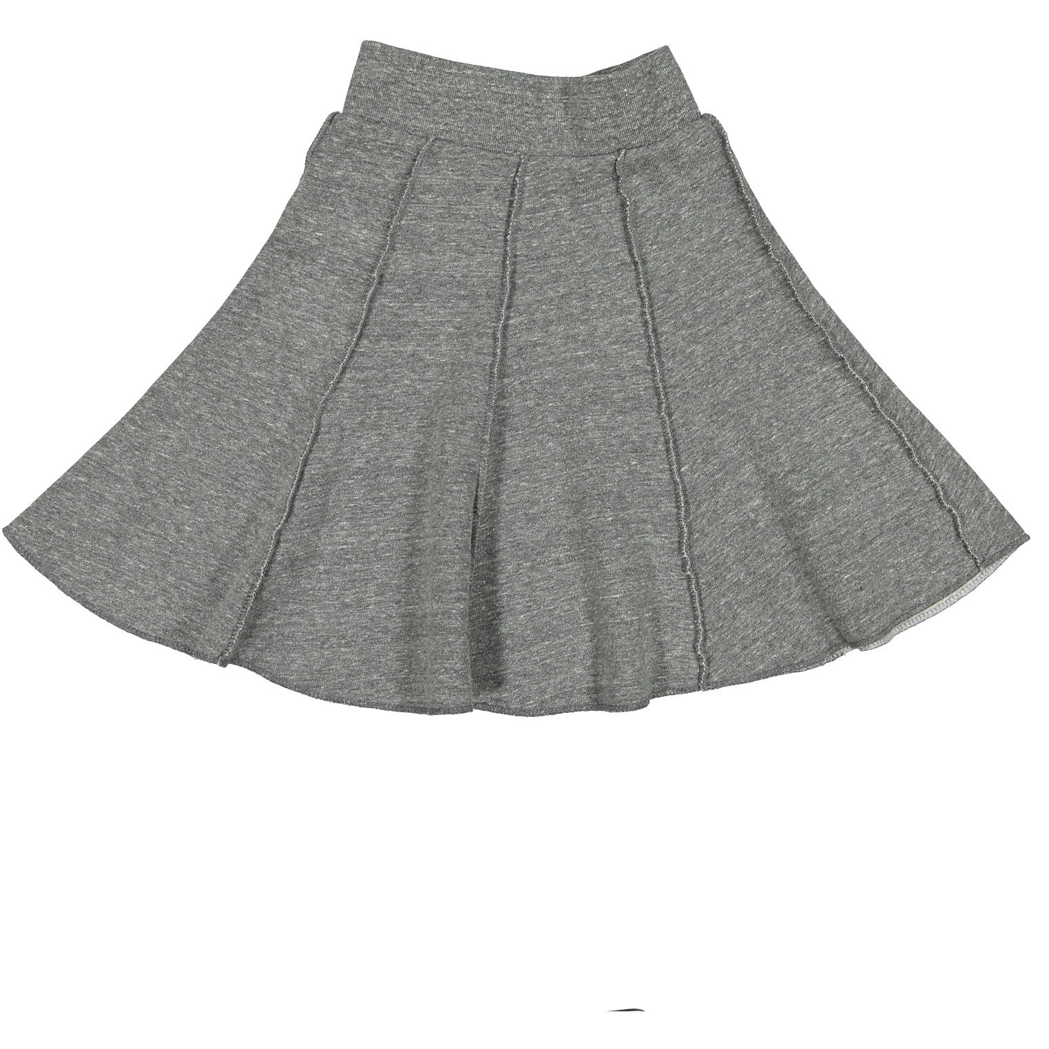 Mimobee Heather Grey Twirly Panel Skirt - Ladida