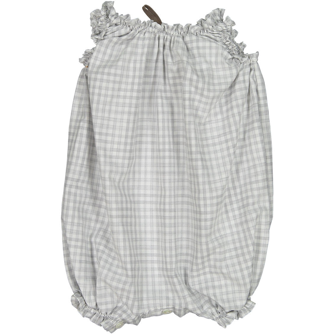 Makie Grey Check Balloon Onesi - Ladida
