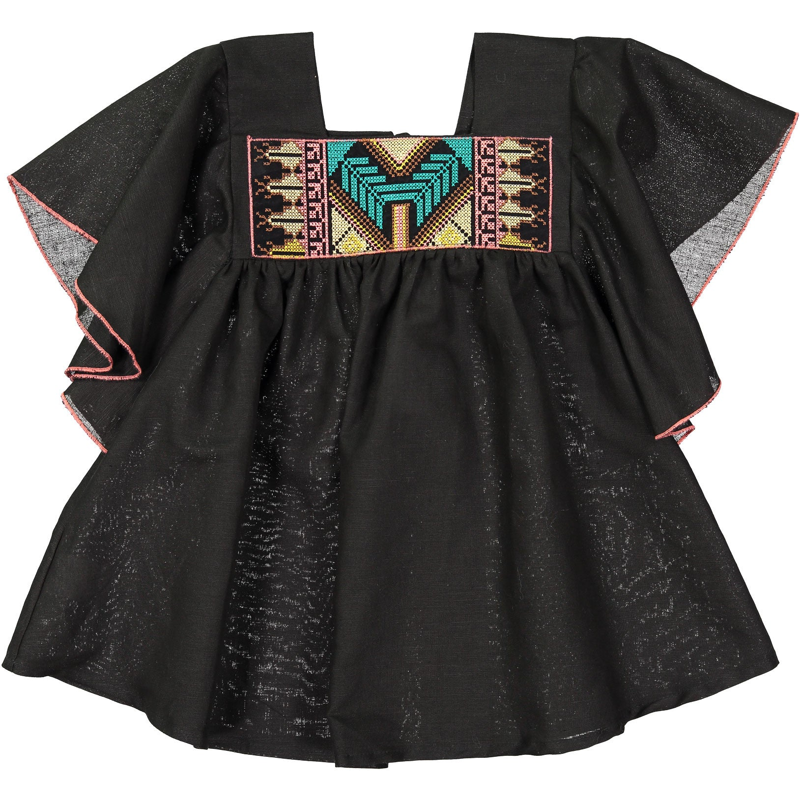 Belle Chiara Black Embroidered Dress - Ladida