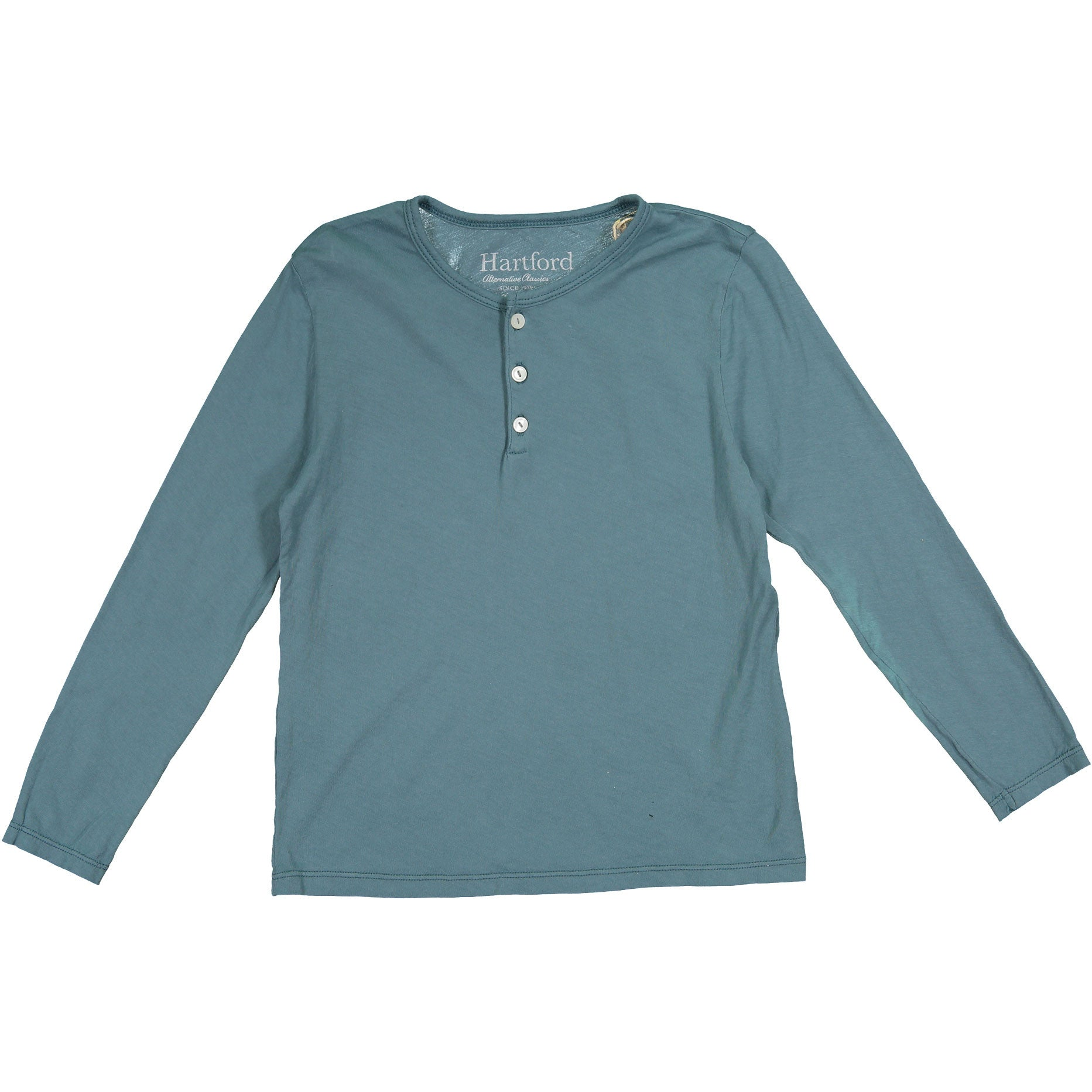 Hartford Jade Basic Henley - Ladida