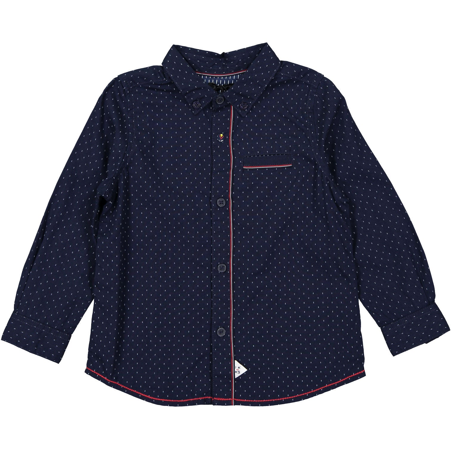 IKKS Navy Trimmed Shirt - Ladida