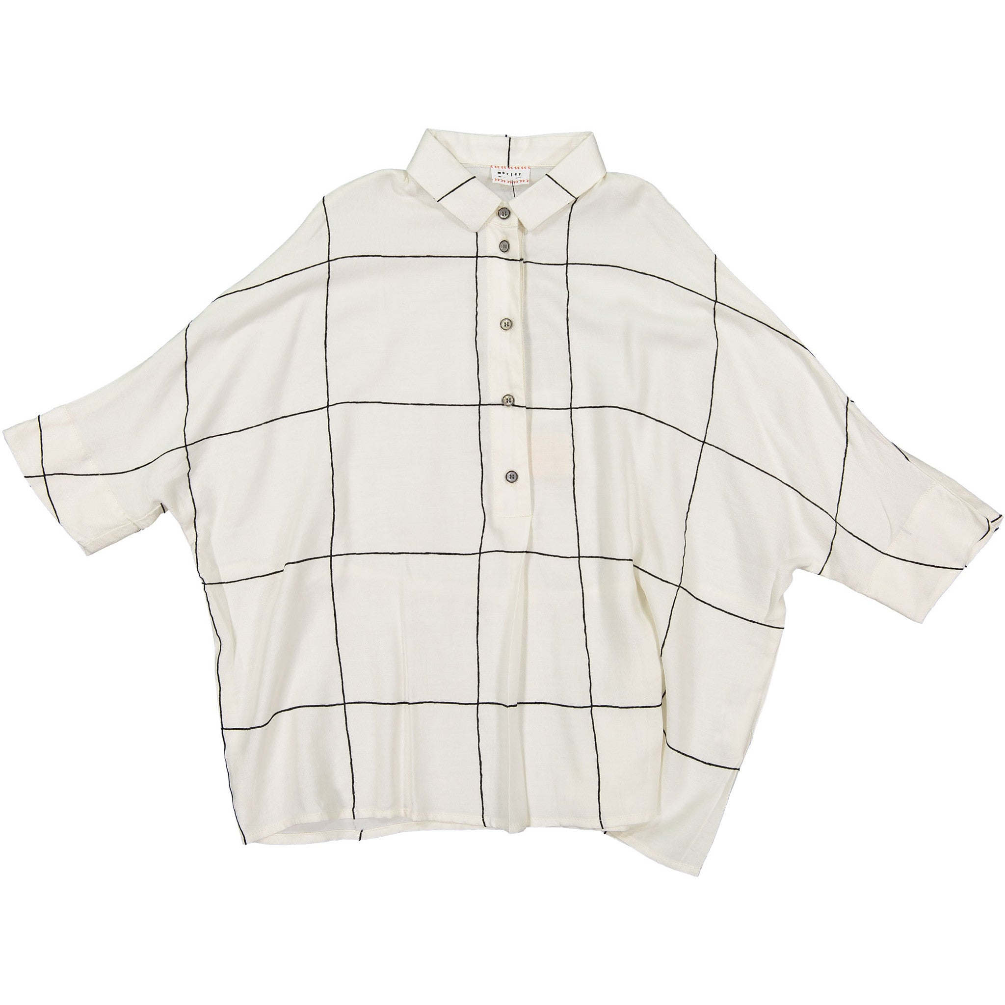 Morley White Check Blouse - Ladida