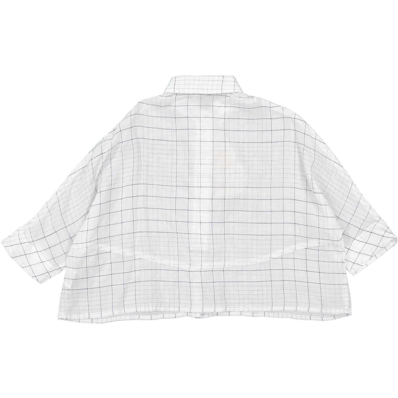 Morley White Grid Blouse - Ladida