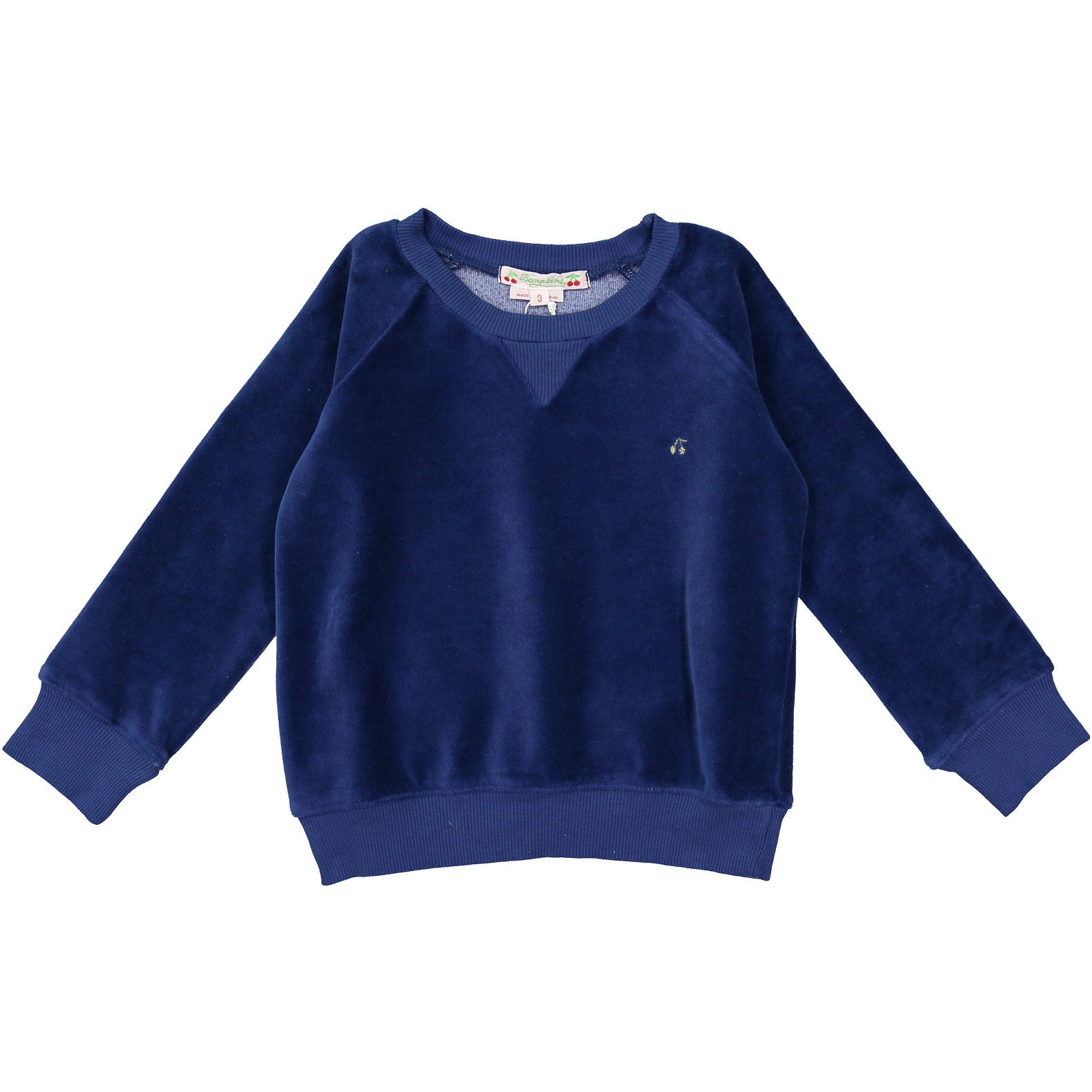 Bonpoint Navy Velvet Sweatshirt - Ladida