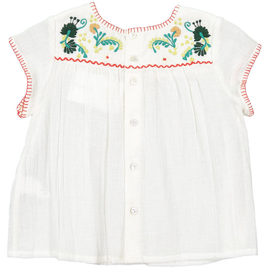 Bonpoint White Embroidered Baby Blouse - Ladida