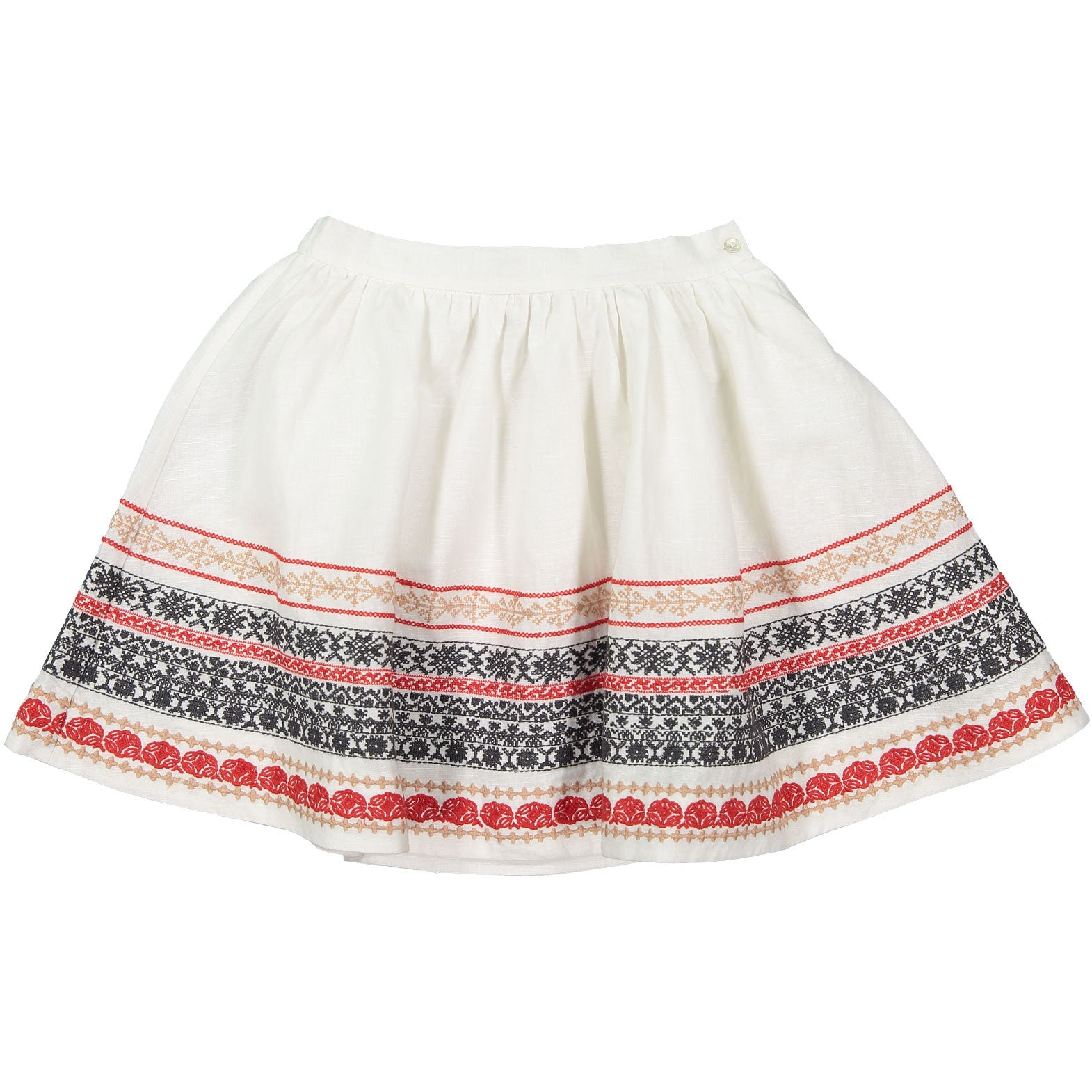 Bonpoint White Embroidered Skirt