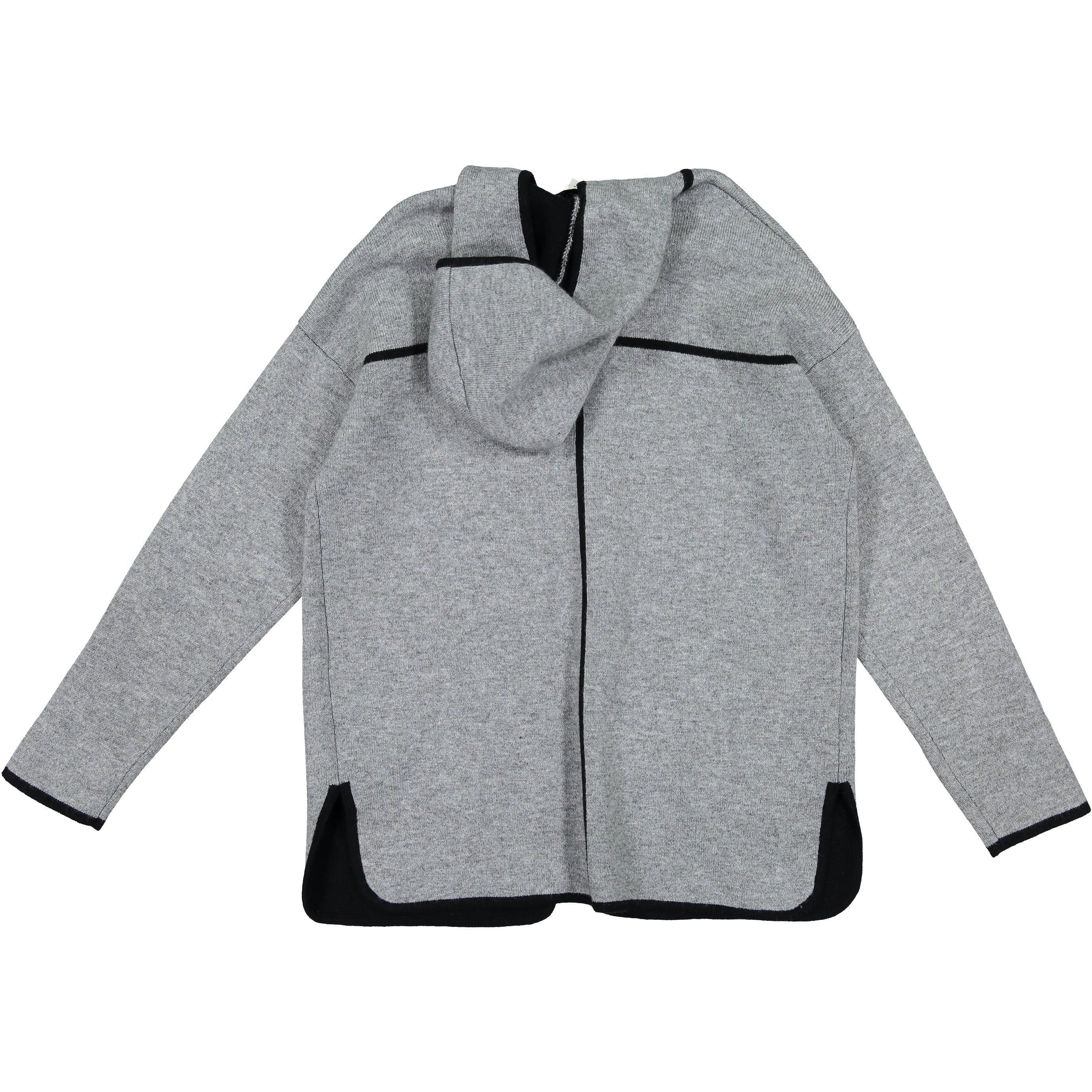Autumn Cashmere Coin/Black Open Hooded Cardigan