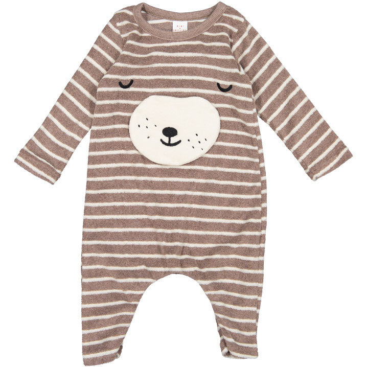Mini Dressing Brown Stripe Bear Romper