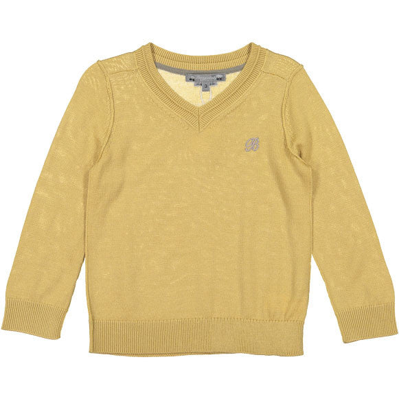 Bonpoint Pale Yellow Classic V-neck