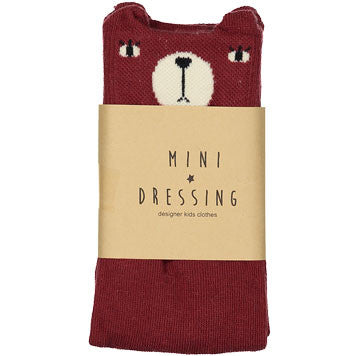 Mini Dressing Marsala Bear Knee Socks