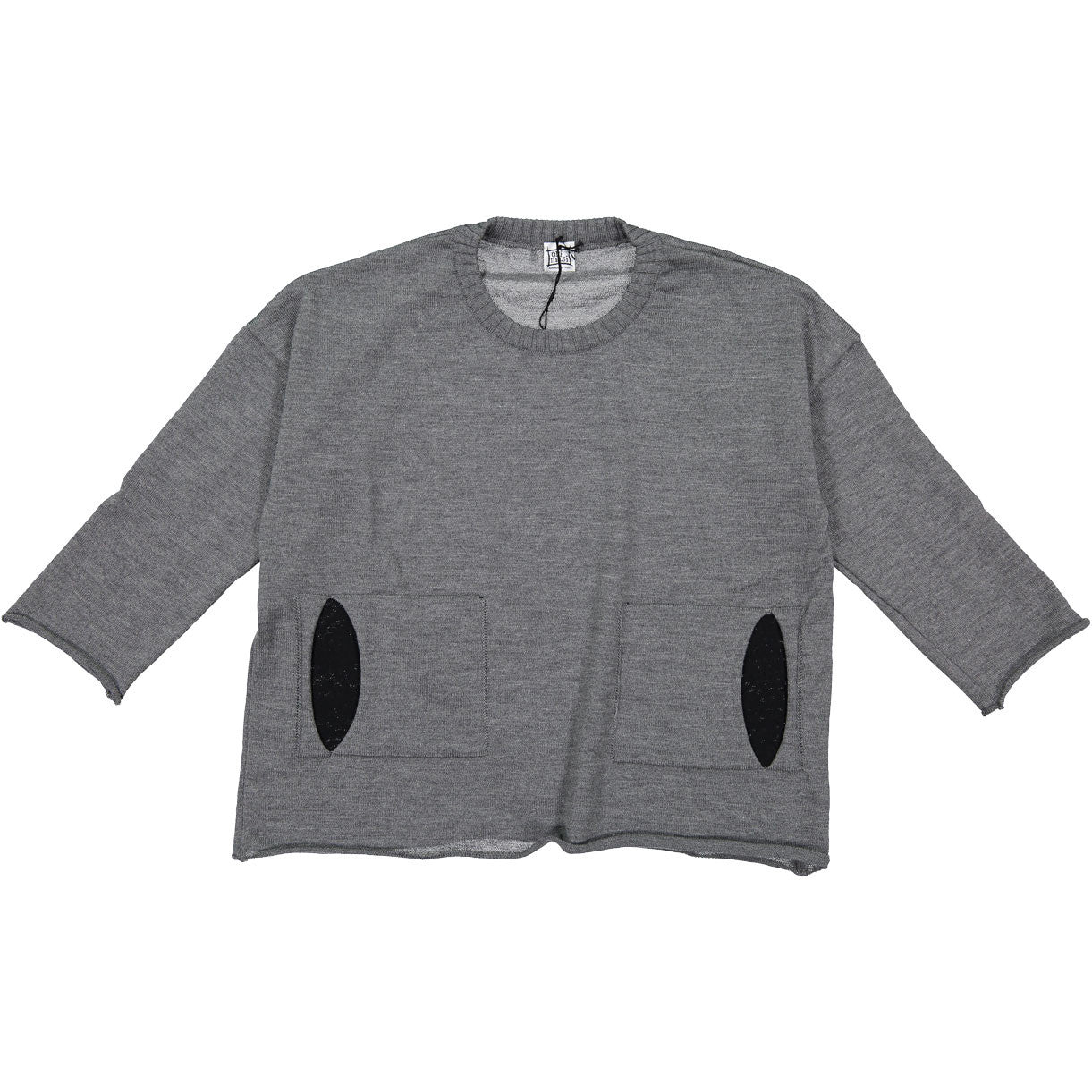 Orimusi Grey Peek Pocket Swing Sweater