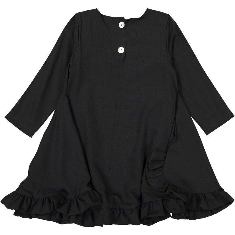 Orimusi Black Ruffle Flair Dress - Ladida