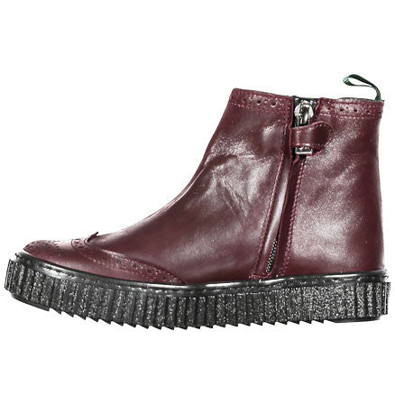 Papanatas Burgundy Elastic Booties - Ladida