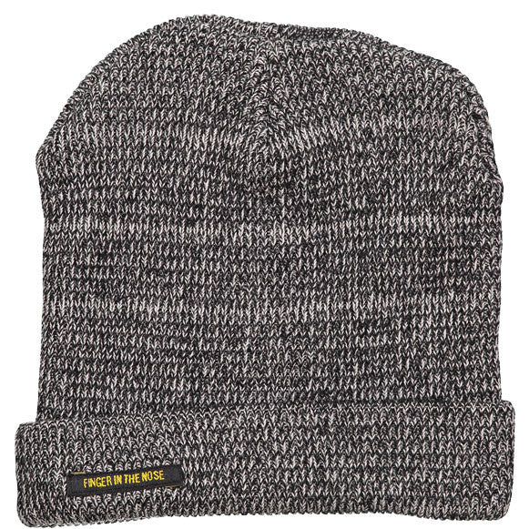 Finger in the Nose Heather Black Beanie - Ladida