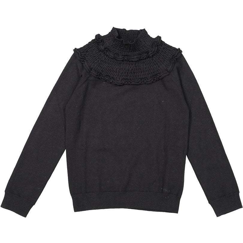 Chloe Black Knit Turtleneck Sweater - Ladida